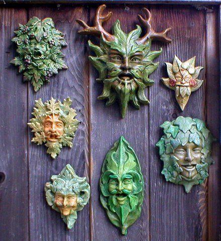 Color Group21 Jpg Green Man Clay Art Ceramic Sculpture