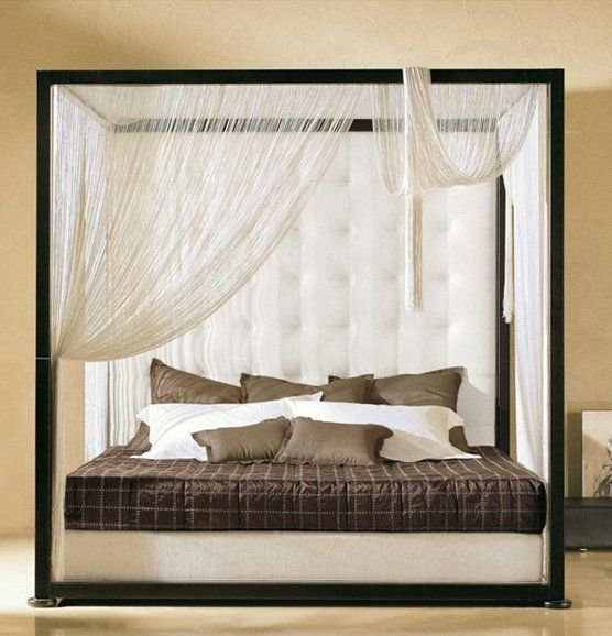 Canopy #bed GINEVRA by VALDICHIENTI | #design Vittorio Prato #bedroom #interiors