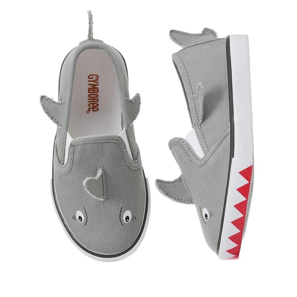NWT Gymboree Boy Gray Sneakers Shoes Sz 2