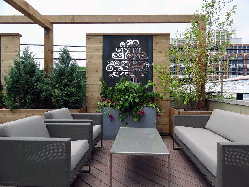 Roof Deck Privacy Screen Outdoor Furniture Urban 640 x 480