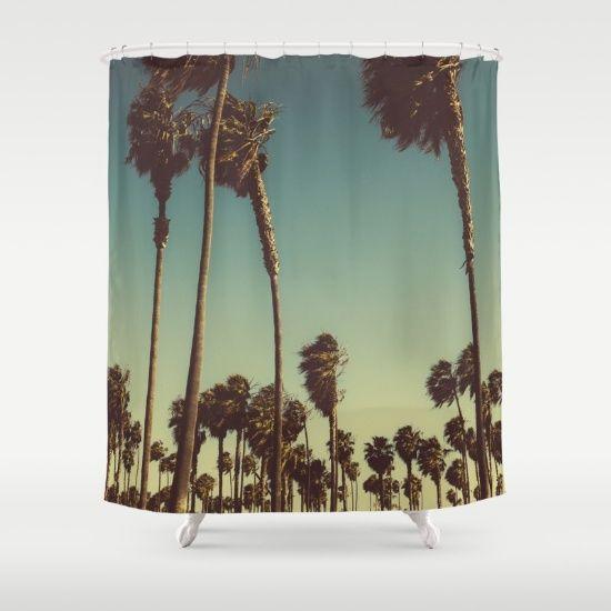 Venice Beach Palm Trees Shower Curtain
