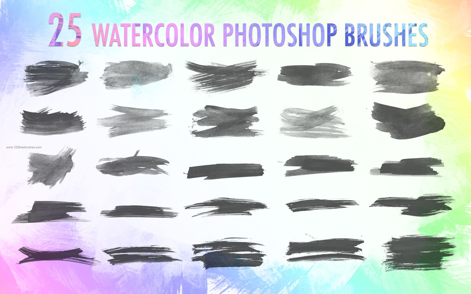 Watercolor Photoshop Brushes Photoshop Watercolor