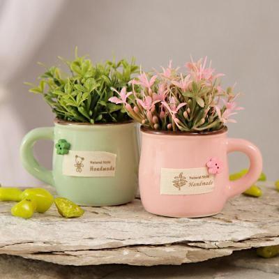 Home Decor Gifts For Diwali Artificial Plants Ceramic Pots Plants