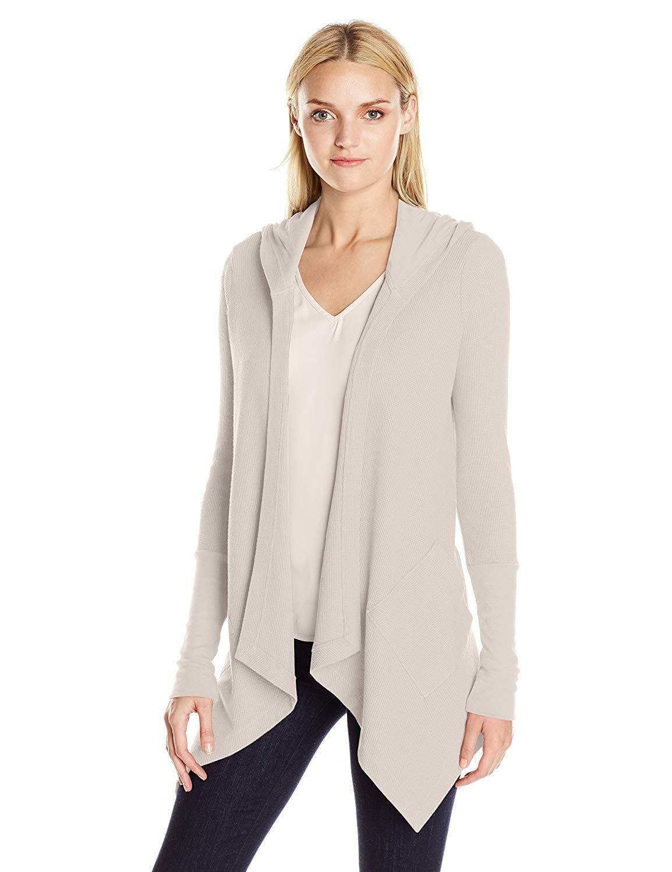 551b1661d3e4d2 Amazon.com  Splendid Women s Thermal Wrap Hooded Cardigan Sweater  Clothing