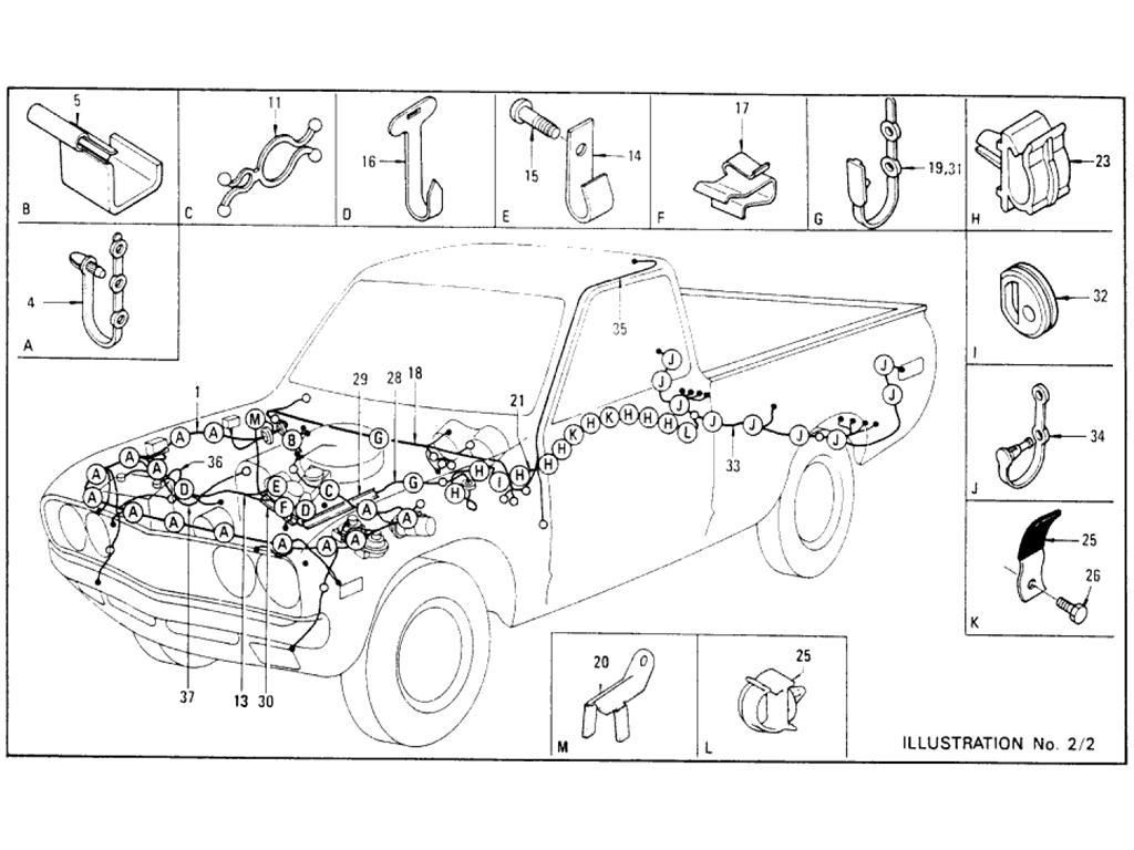 Nissan 720 Chassis Layout