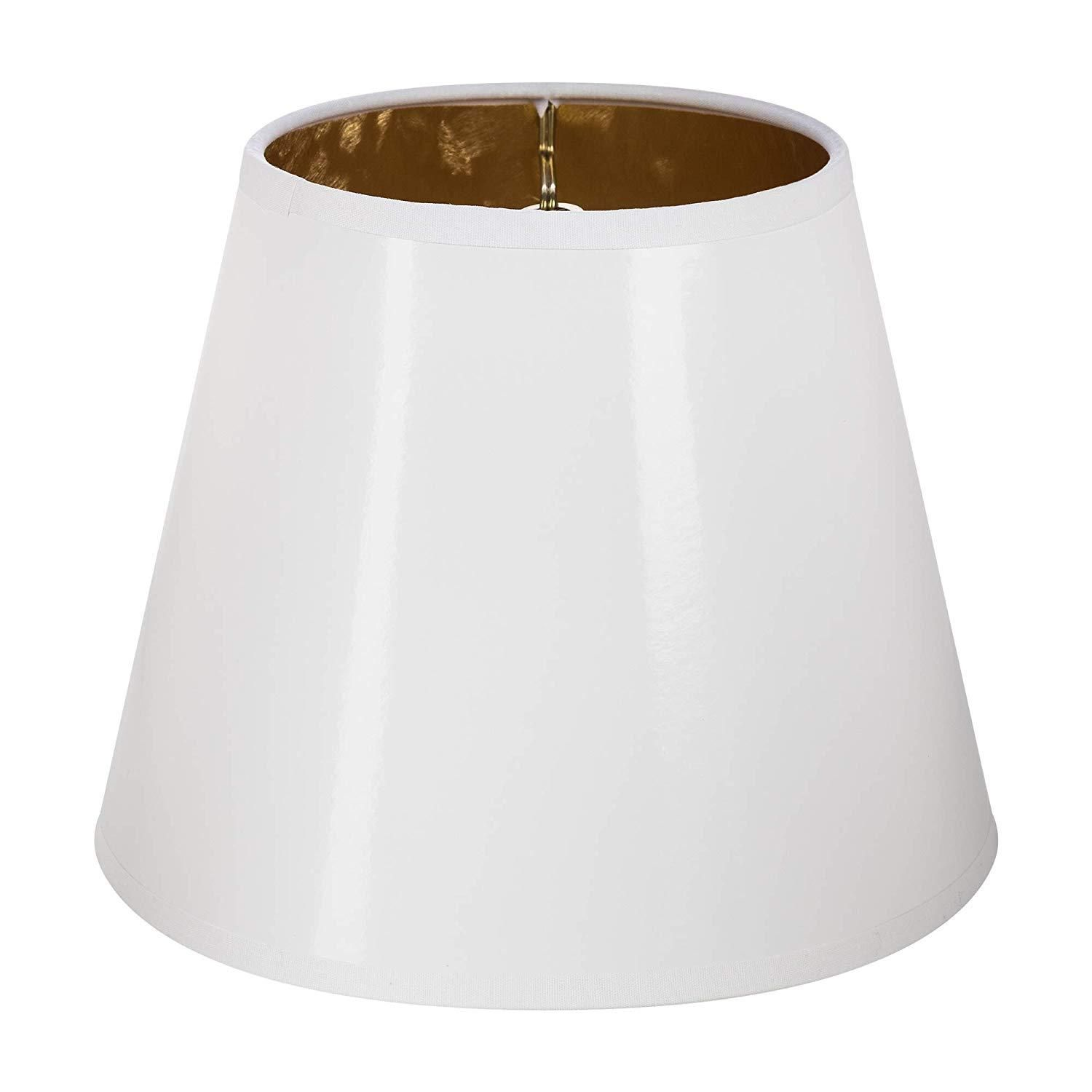 White With Gold Interior 12 Inch Washer Fitter Lampshade Replacement 5x12x8 5 Lamp Shades Lamp Shade Table Lamp Shades