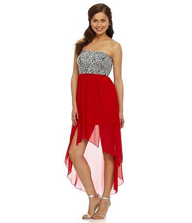 Dillard's High Low Dresses for Prom,Hi-Low Bridesmaid Dresses Dillard's,Dillards Sweet 16 Dresses,