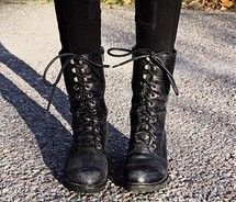 Black Combat Boots Girls | FP Boots