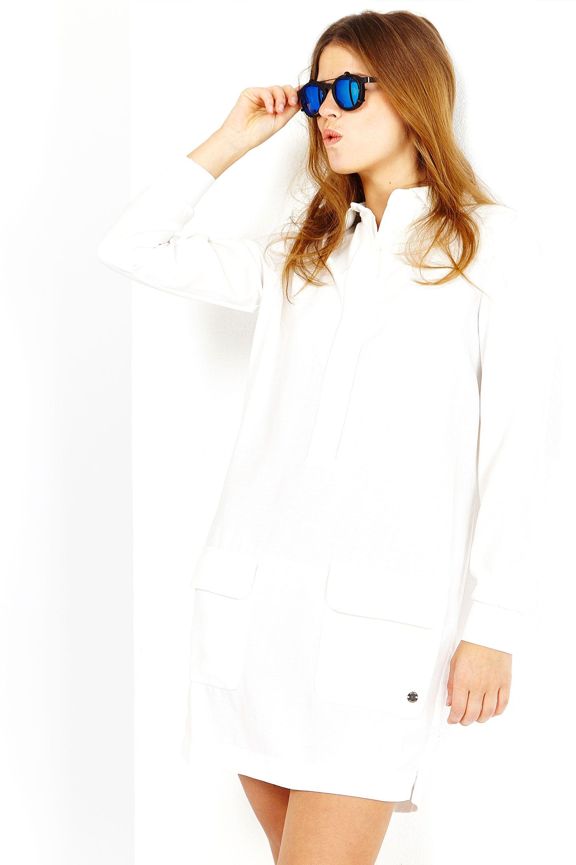 WHITE POCKET DRESS / juneclothes