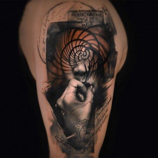 Surreal And Mesmerizing Double Exposure Tattoos Tattoos Tattoo Style Art Dark Tattoo