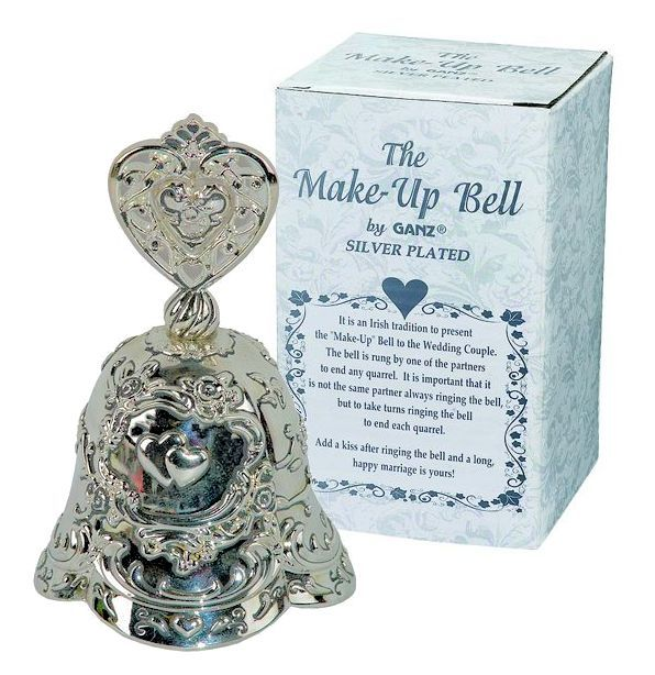 Irish Wedding Gifts Traditions: Irish Tradition Wedding Silver Plated Make-up Bell By Ganz