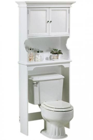 Hampton Bay Space Saver with Wood Doors - Space Savers - Bathroom Cabinets - Bath | HomeDecorators.com on Wanelo  Privacy Cabinets at the top --- shelf for decor and misc necessities  White or wood that blends with cabinetry wood