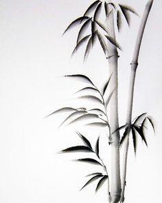 Japanese Bamboo Drawings | Hand Painted Sumi Art