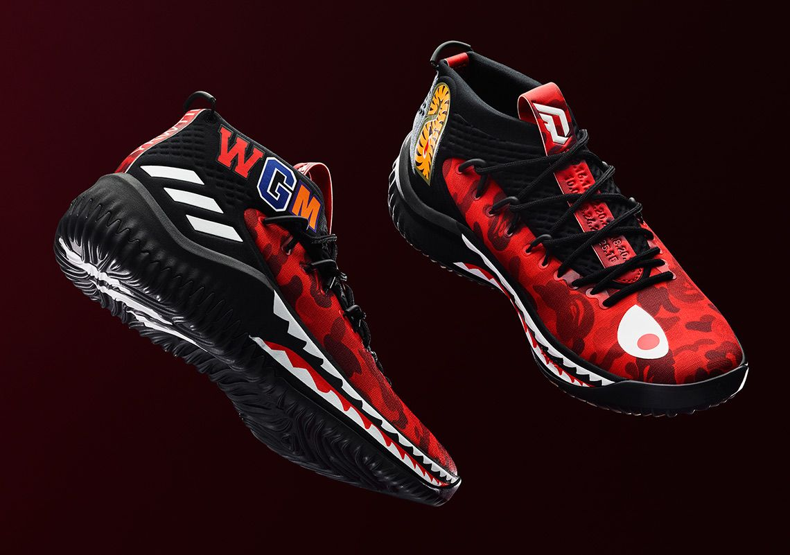 bape x adidas basketball shoes