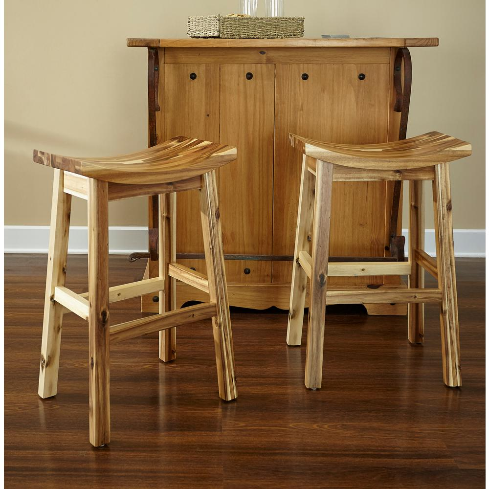 Powell Company 30 In Dale Saddle Light Natural Bar Stool D1020b16bs The Home Depot Bar Stools Saddle Bar Stools Saddle Seat Bar Stool