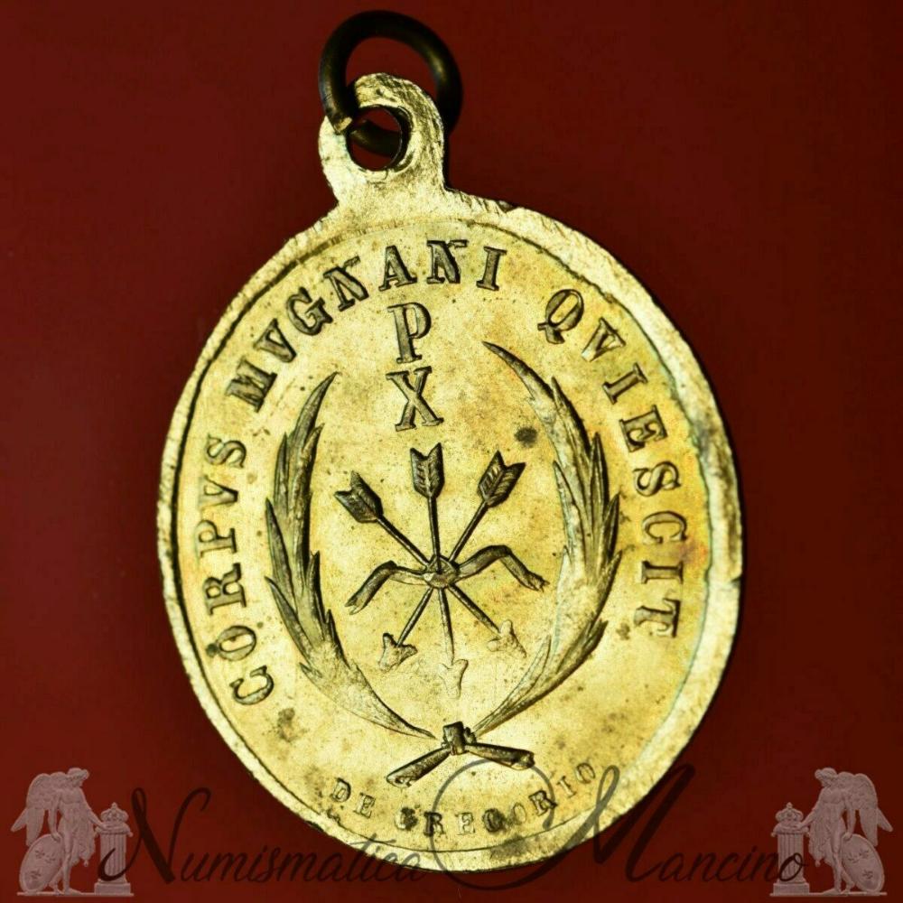 Ant Martina Franca dettagli su medaglia votiva santa filomena ora pro nobis