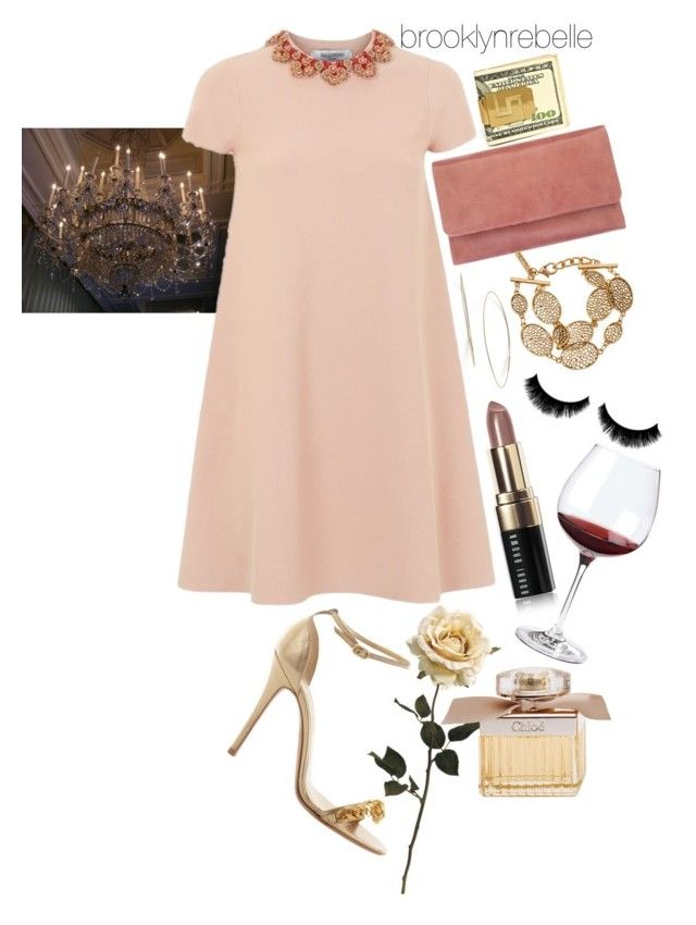 """""""Untitled #890"""" by brooklynrebelle ❤ liked on Polyvore featuring Lana Jewelry, Valentino, Alexander McQueen, Status Anxiety, Oscar de la Renta, Bobbi Brown Cosmetics, Wine Enthusiast and Chloé"""