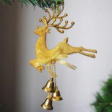 Ornamento de Suspensão Da Árvore de Natal Do Partido da rena Decoração de Natal Veados Bugiganga Com Sinos de Natal Enfeites Decoração Do Partido(China (Mainland))