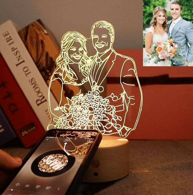 Custom Photo 3d Lamp Bluetooth Music Player Desk Lamp Etsy In 2020 Unique Gifts For Him Photo Lamp Wedding Gifts