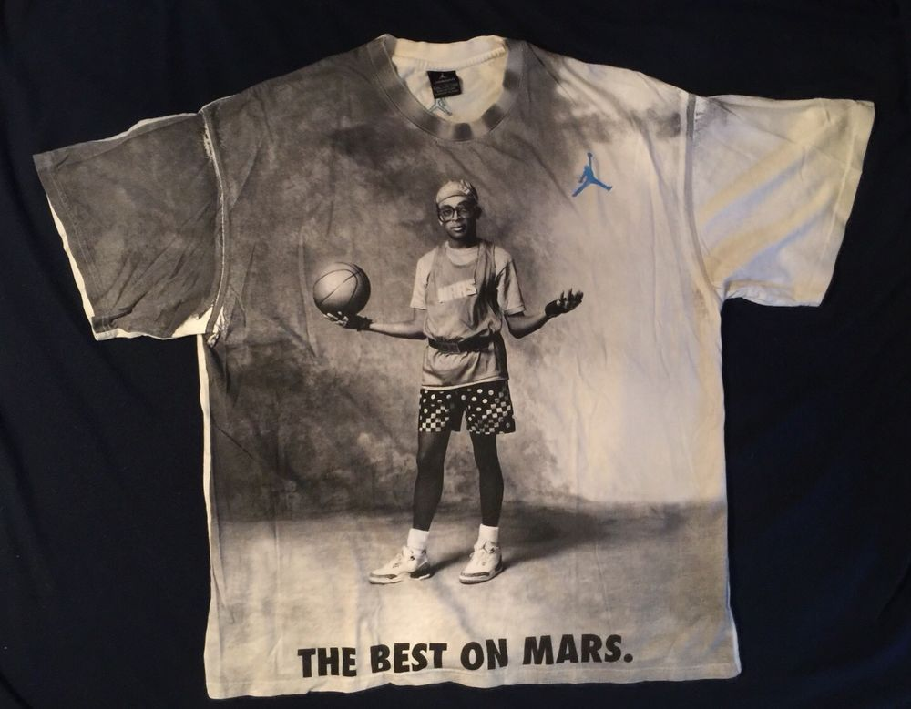 5a55feeceb76 Vintage Nike Michael Jordan Spike Lee THE BEST ON MARS Jumpman T Shirt XXL   MichaelJordan