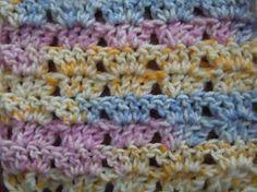 Photo of Twin v crochet stitch; crochet pattern