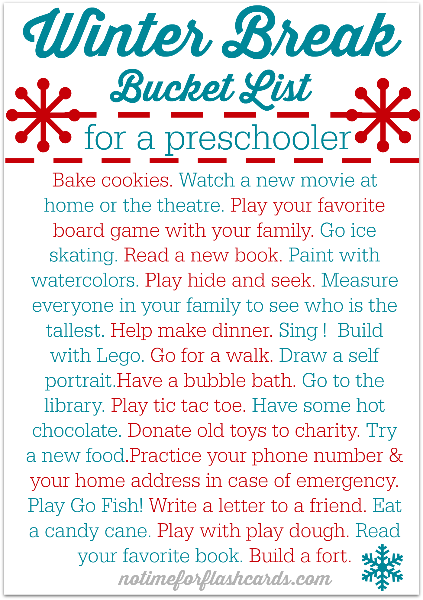 06c57a5d16 FREE PRINTABLE Winter break bucket list - great activities to stop cabin  fever and maybe even sneak in a little learning!