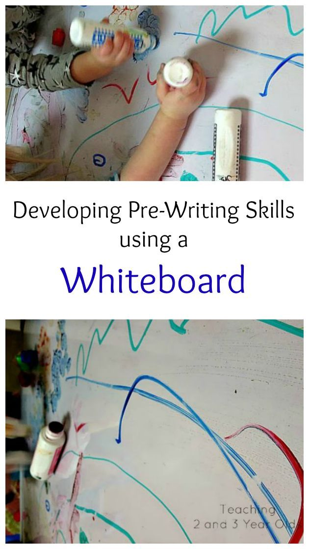 Developing Pre Writing Skills On A Dry Erase Board With