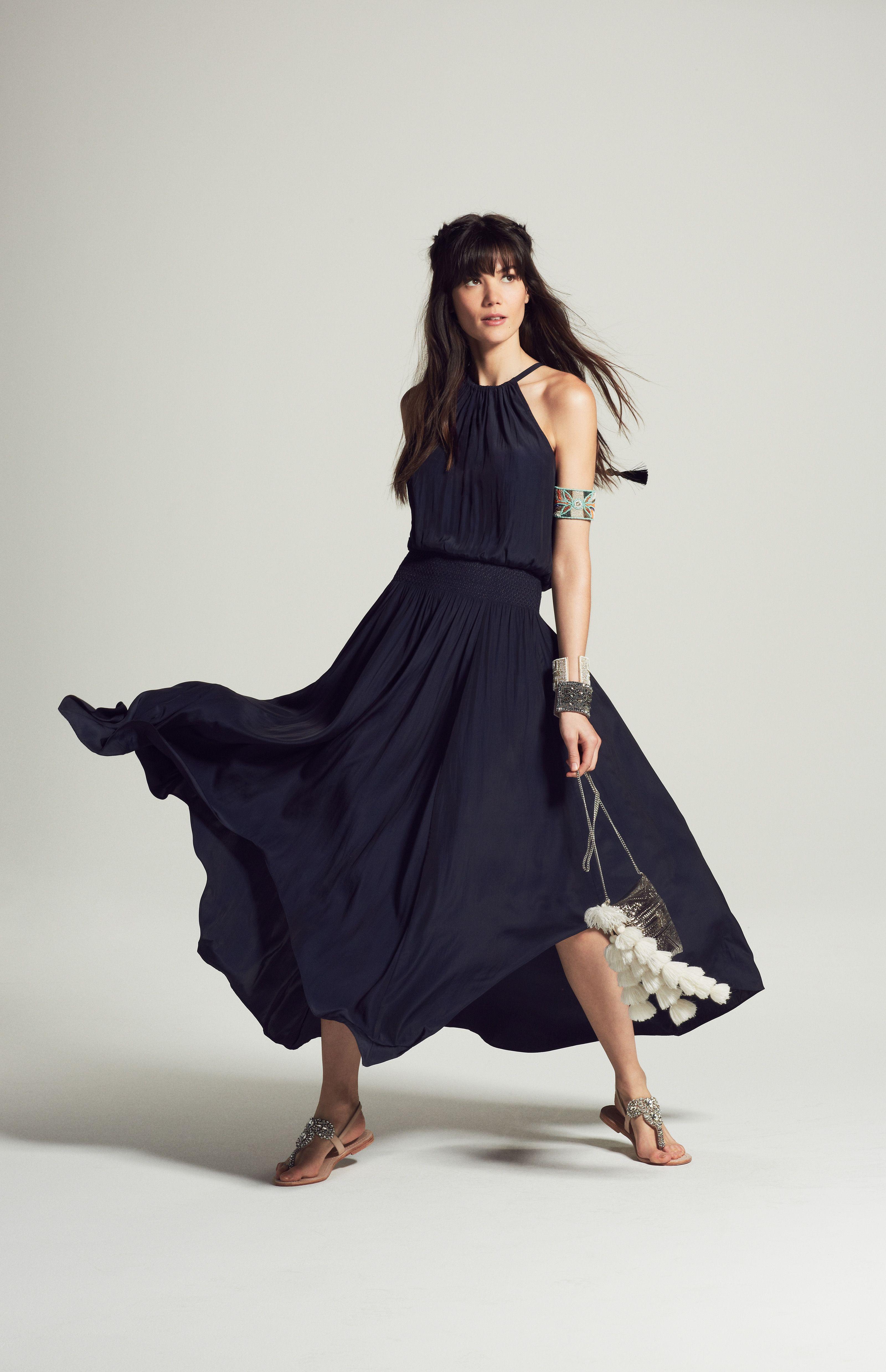 Vinata Asymmetric Maxi Dress