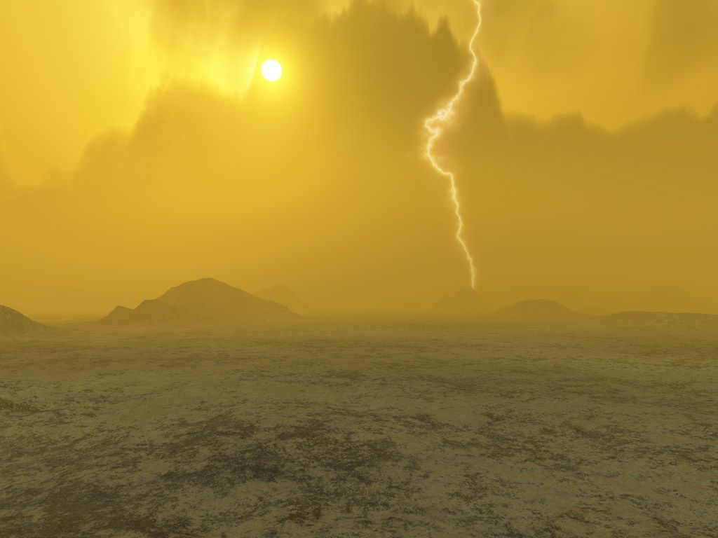 Lightning on Planet Venus....an Artist's concept. #space #astronomy   Image credit: Credits:  J. Whatmore