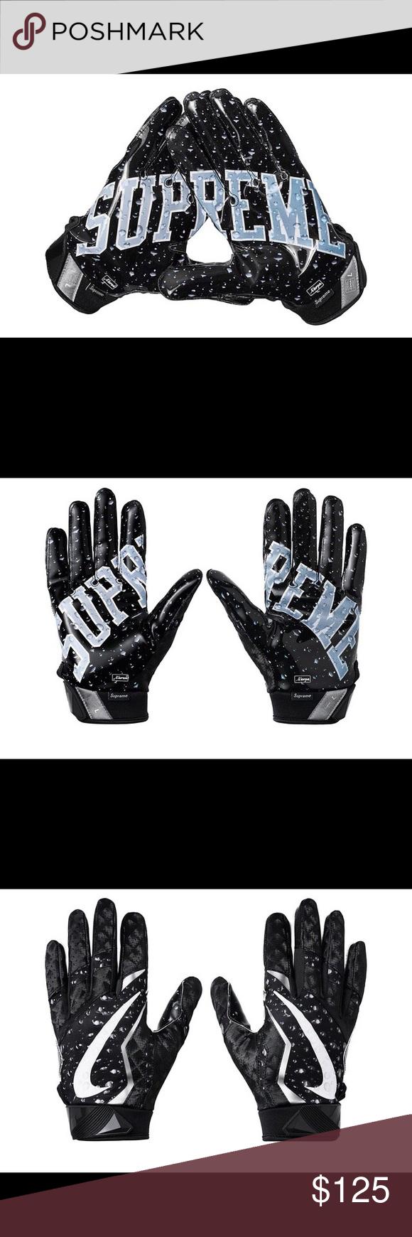 Supreme Nike Vapor Jet 4 0 Football Gloves Black Nike Vapor Football Gloves Things To Sell