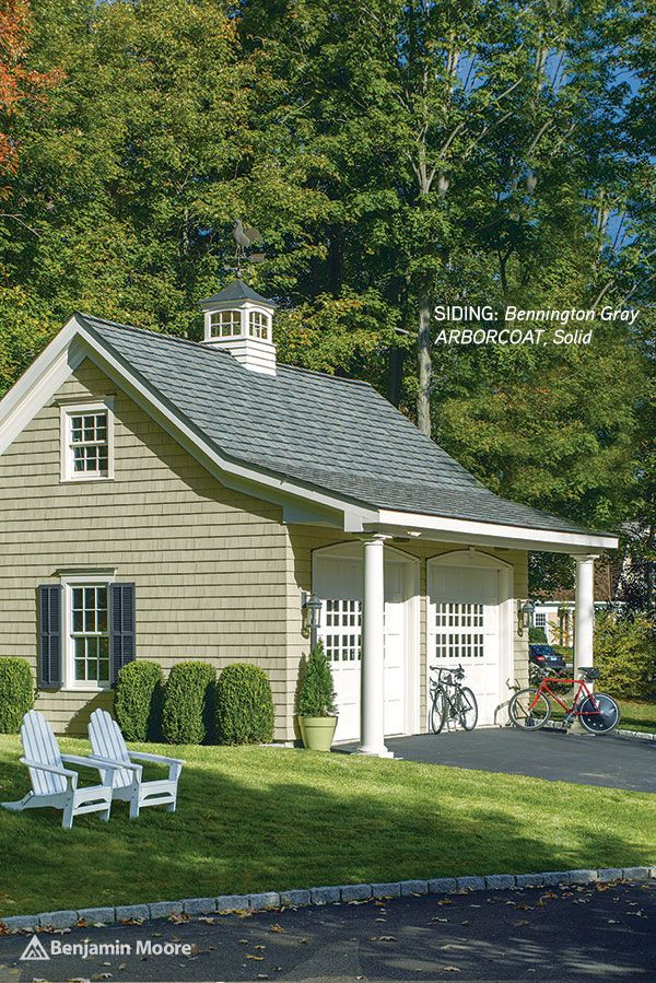 Update your siding with benjamin moore arborcoat in - How to stain exterior wood siding ...