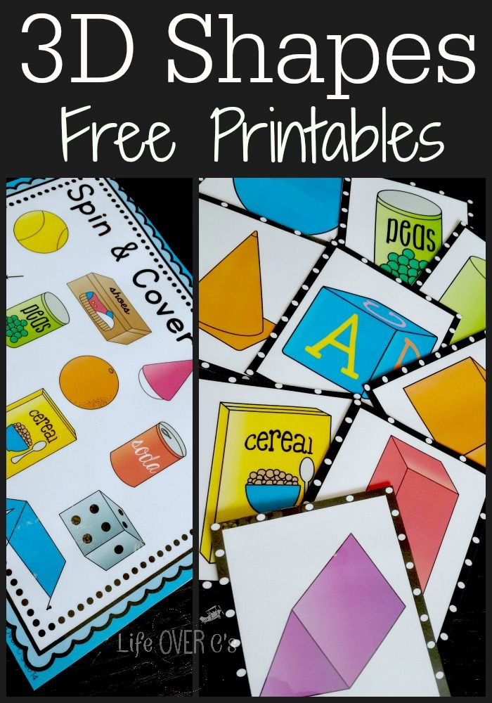 3D Shapes Free Printable Activities | Mathe, Geometrie und Kind