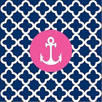 pink blue anchor