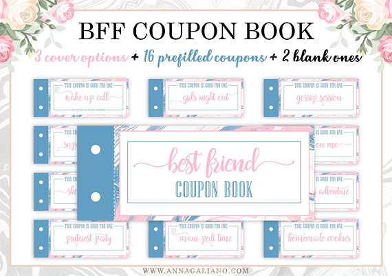 photograph about Friendship Coupons Printable called Ideal Pals Present, Printable Discount coupons, Coupon E book, Birthday