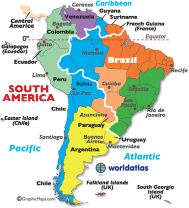 Time Zones of South America Time zone map South america and