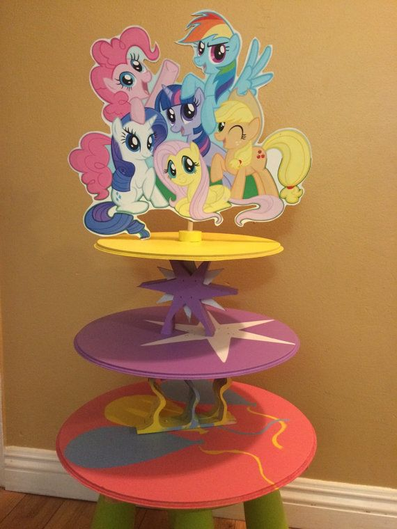 My little pony Cupcake and Cake Stand Twighlight by SOUTHFLOWER