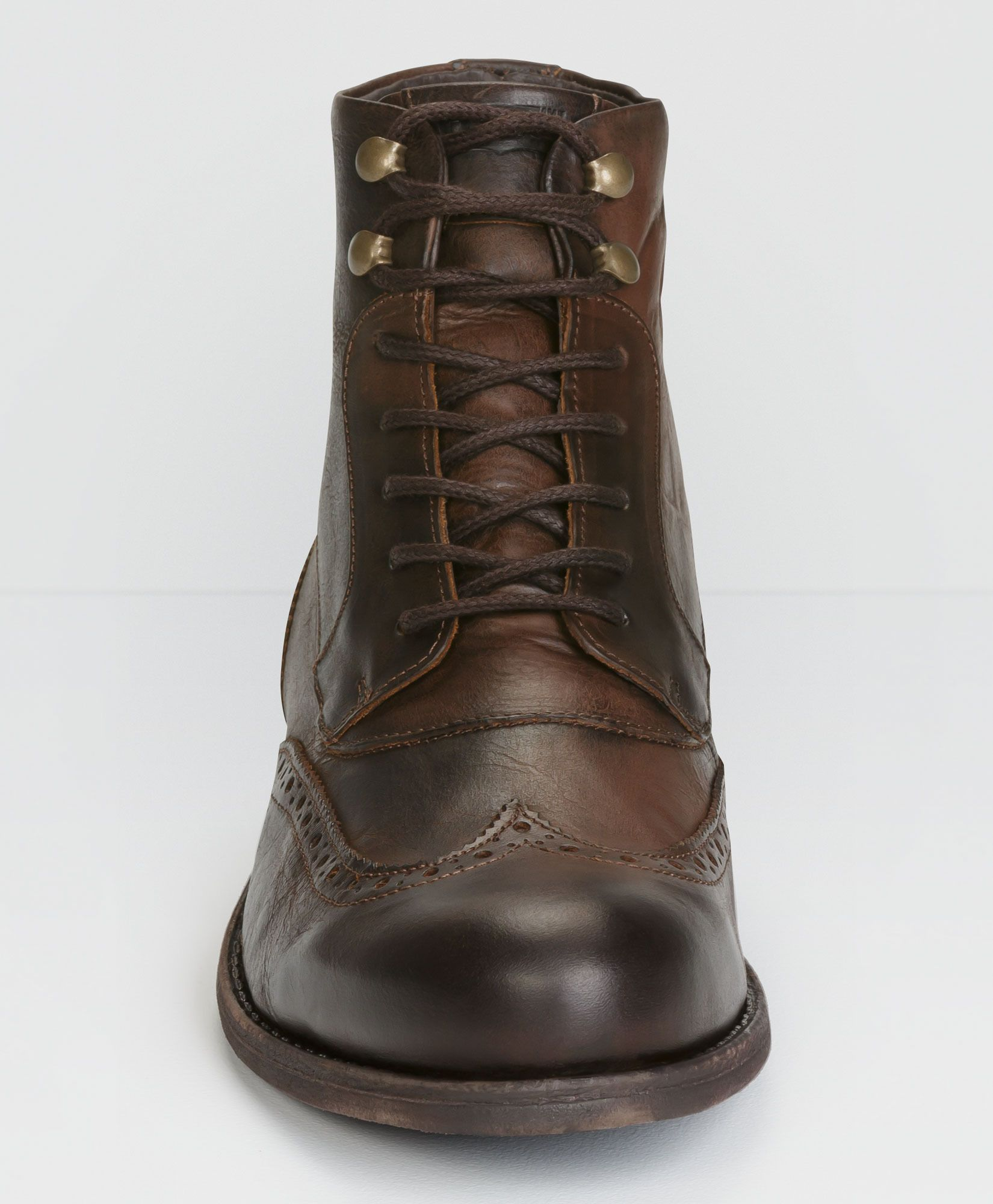 eb56a054b7 Levi's Brogue Lace-Up Boots - Dark Brown - Accessories & Shoes ...