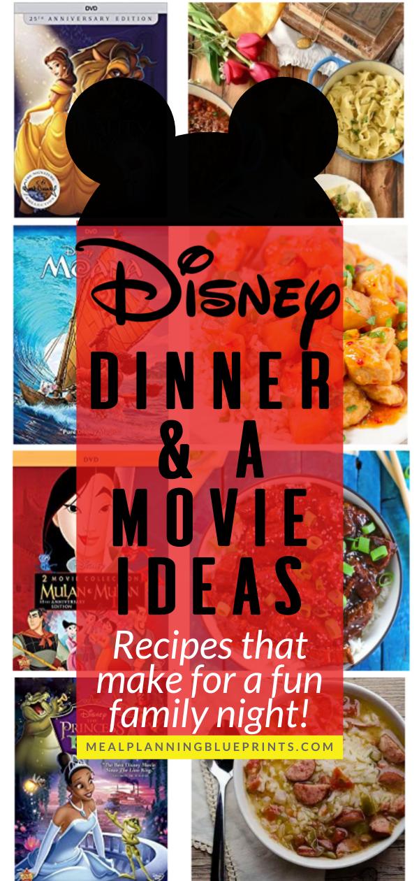 Do You Do Family Movie Night Disney Movie Night Dinner Disney Dinner Movie Night Dinner