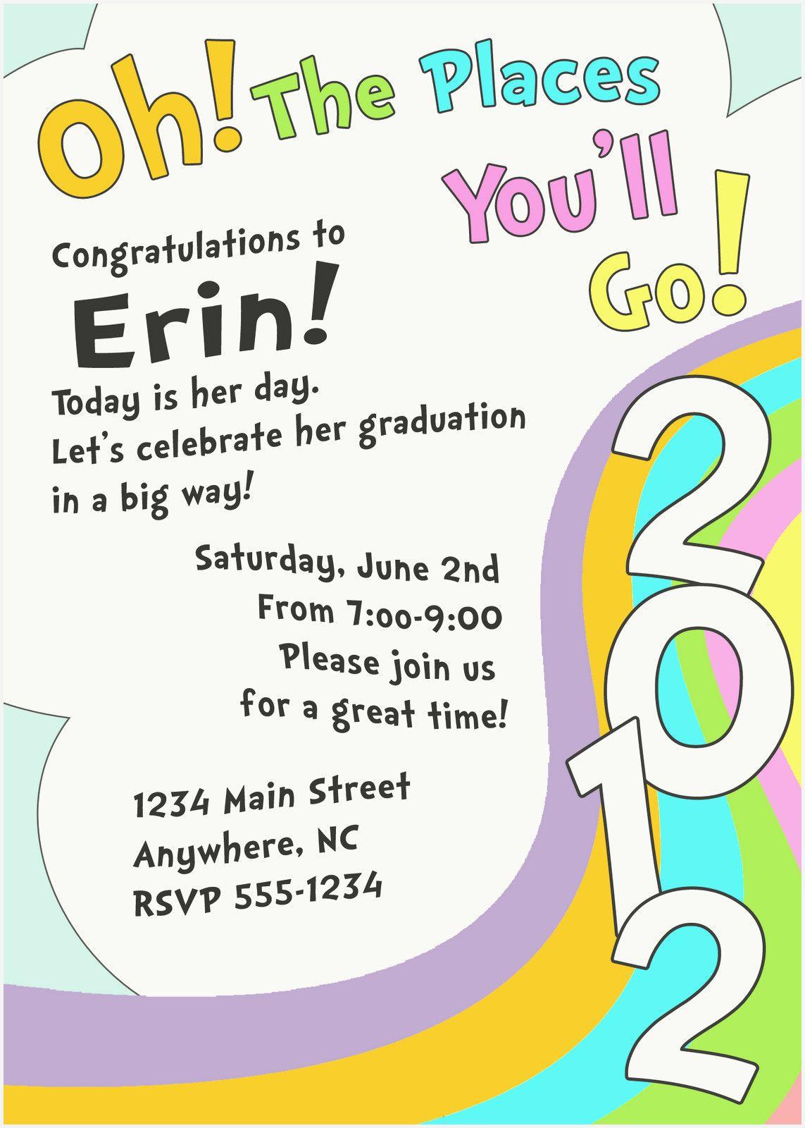 52 Inspirational Graduation Invitation Templates Co