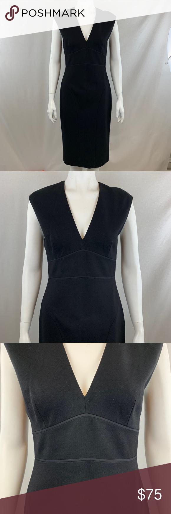 Elie Tahari Black V Neck Sheath Dress Size 4 Elie Tahari Black V Neck Sheath Dress Size 4 Mint Condition Classy An Sheath Dress Elie Tahari Dresses Dresses [ 1740 x 580 Pixel ]