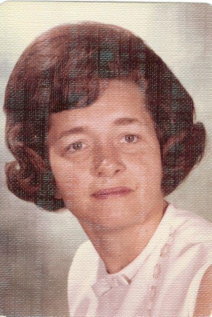 Mom with Bubble Hairdo