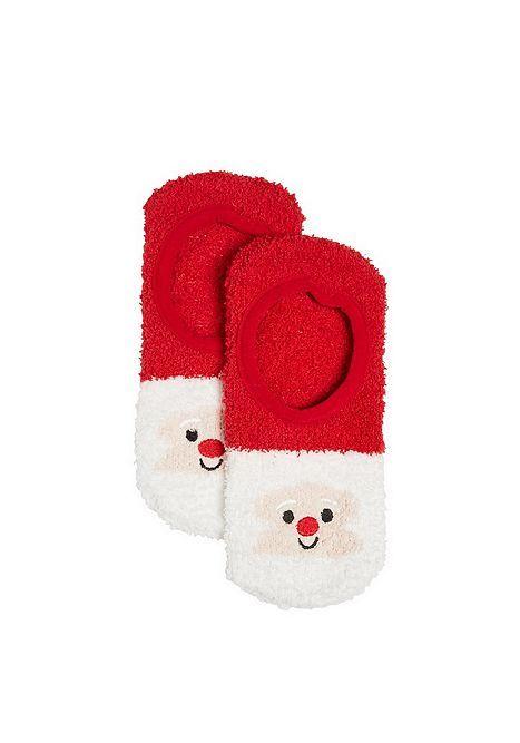 Tesco direct: F&F Santa Face Super Soft Cosy Socks | nightwear ...