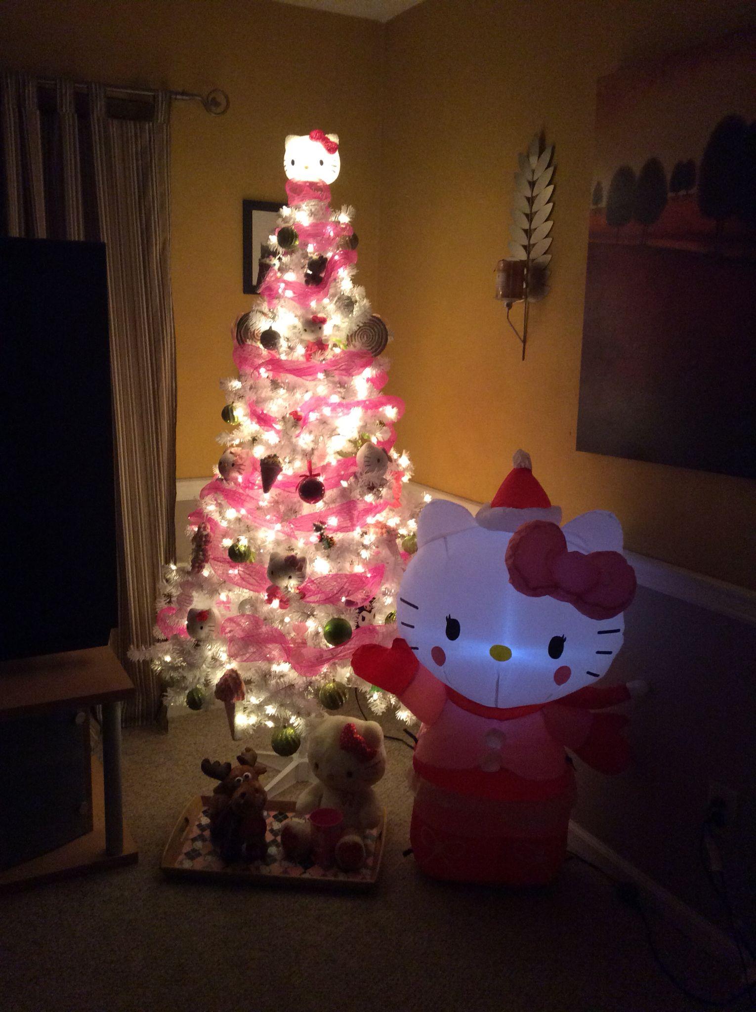 My Hello Kitty Christmas tree Hello Kitty Pinterest