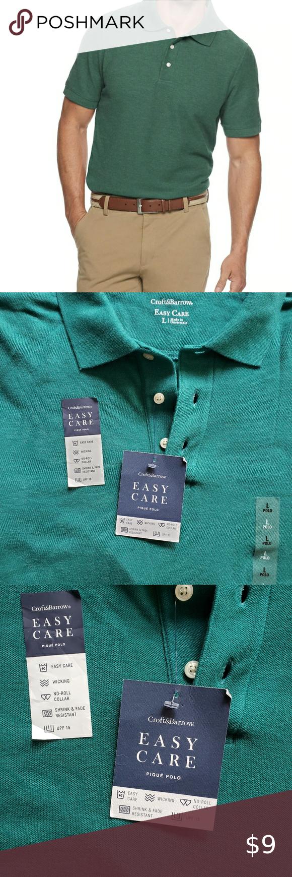 Men S Green Polo Shirt Size M Green Polo Shirts Mens Green Polo Shirt