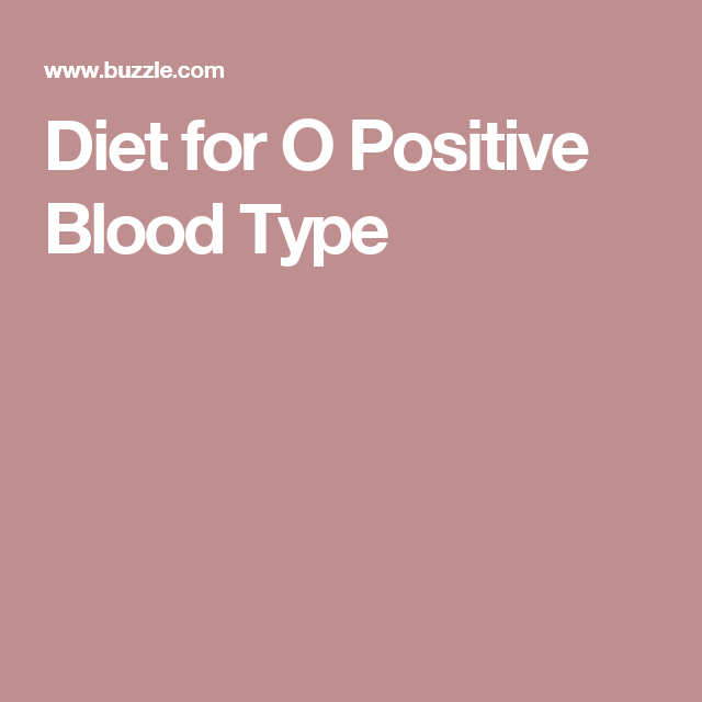 blood group o positive diet plan pdf