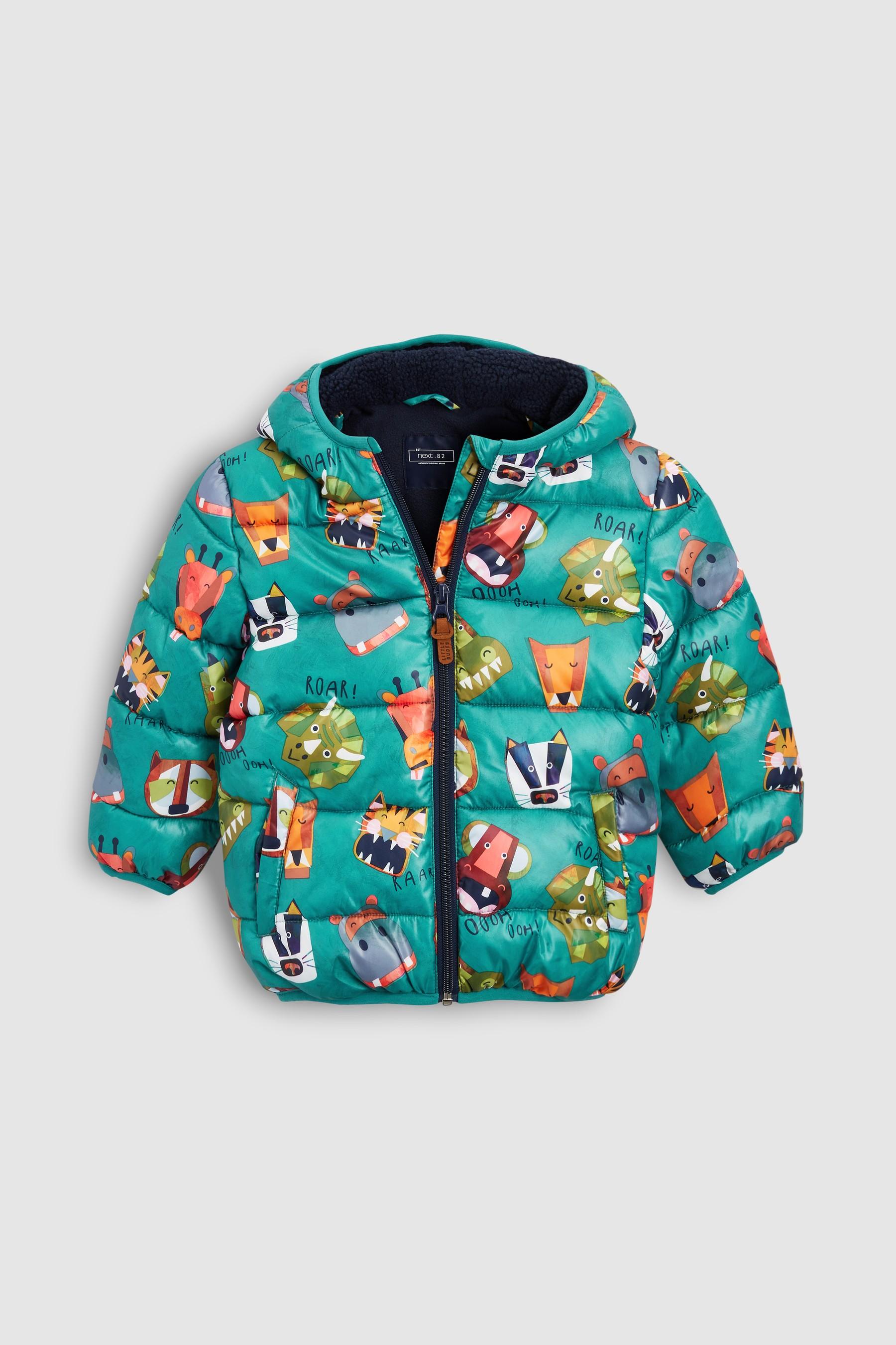 d4cd23a03 Boys Next Green Animal Print Padded Jacket (3mths-7yrs) - Green ...