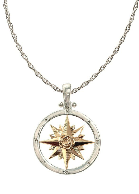 Compass Necklace by The Touch to always find your way back to that special someone