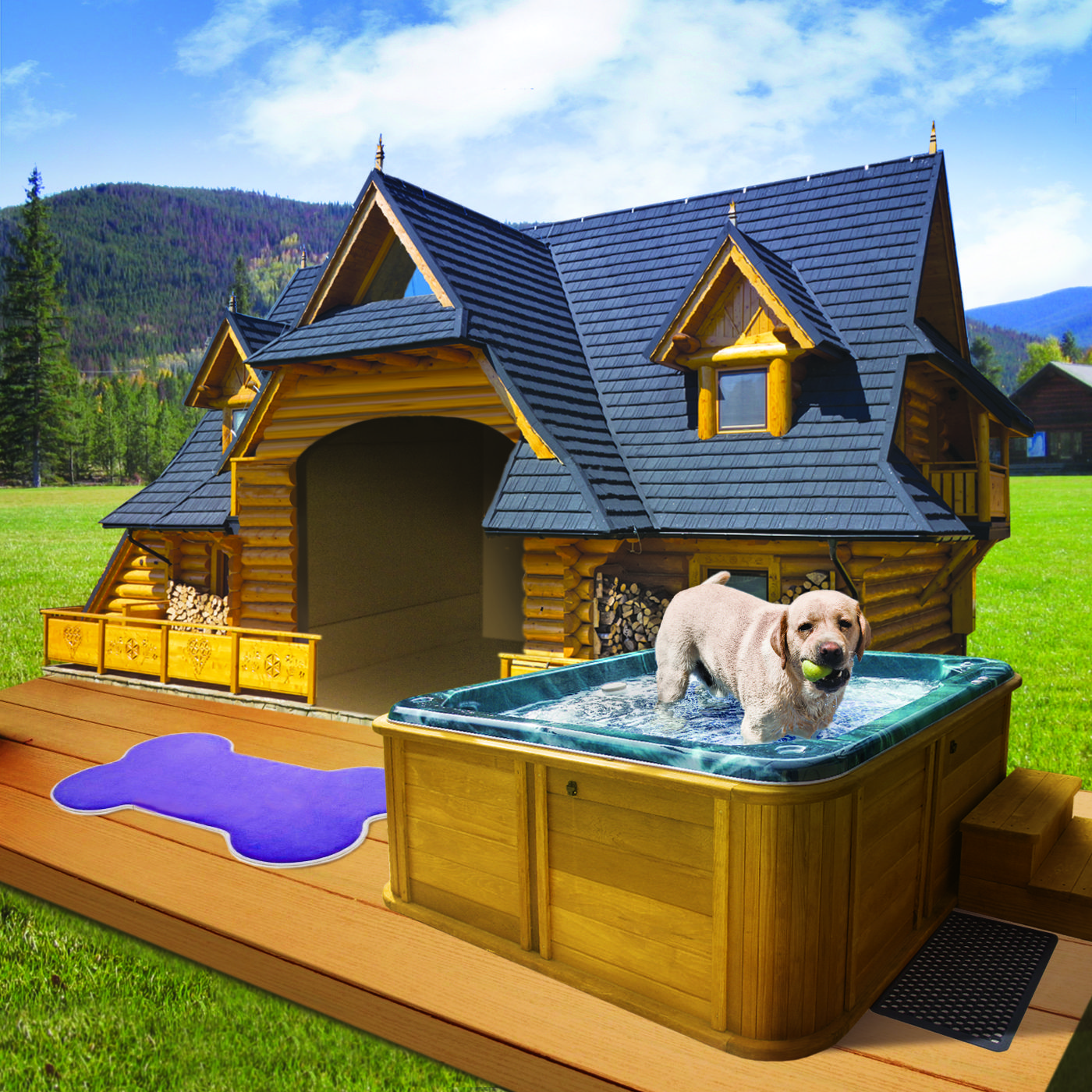The Lodge Your dog will love to rest and unwind in this