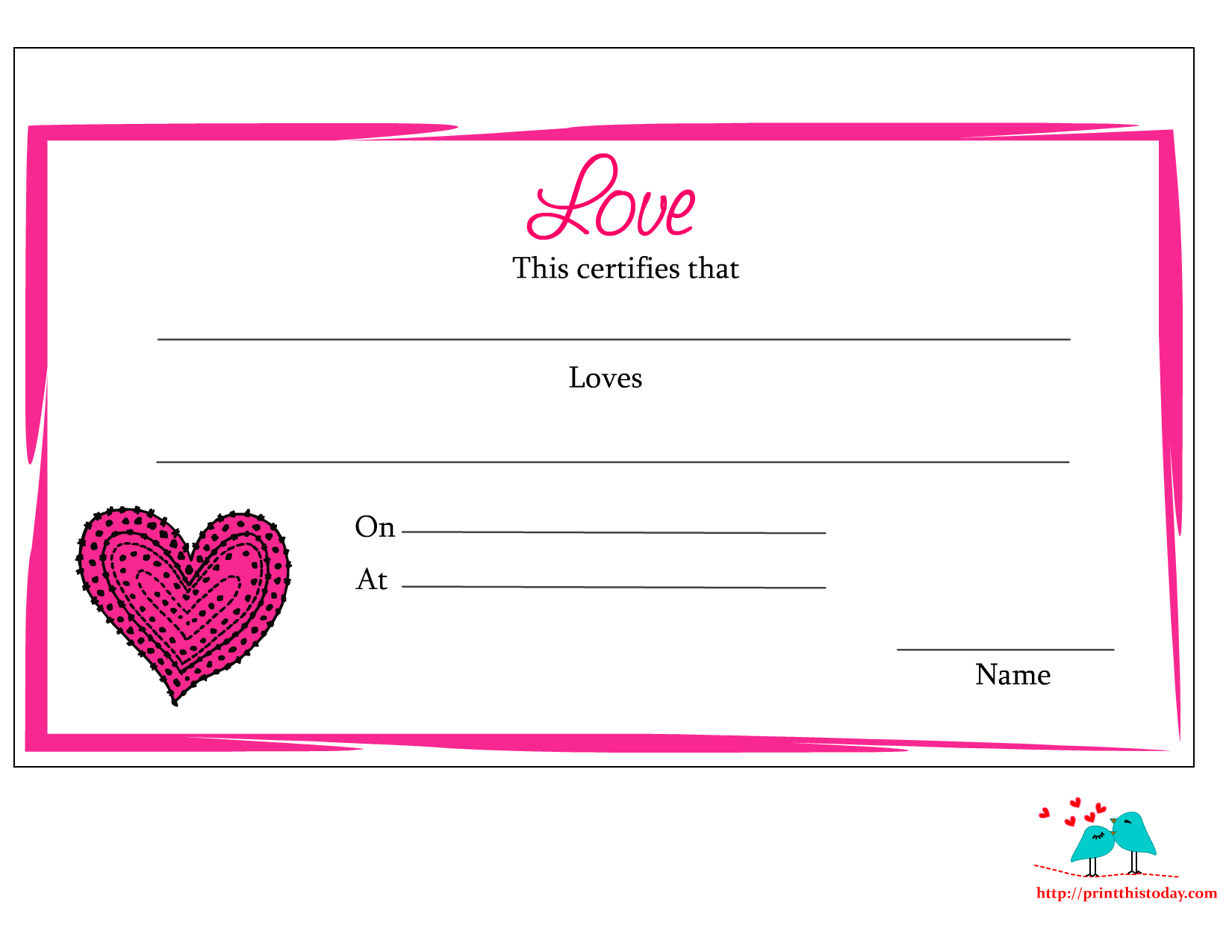 photo relating to Free Printable Love Cards named Absolutely free printable delight in certification For the vacations Totally free