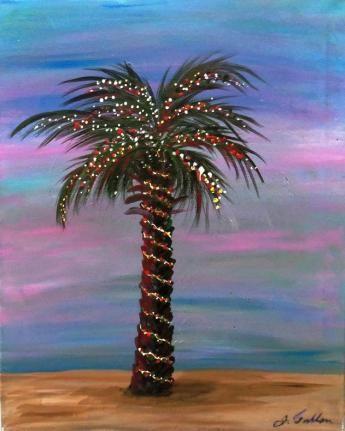 palm tree christmas lights wallpaper - photo #16